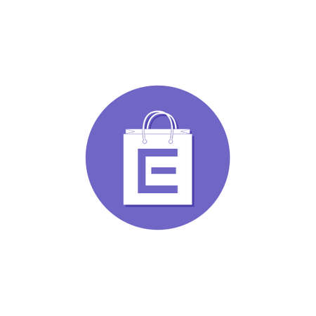 Shopping Bag Online Template  Design, Letter E