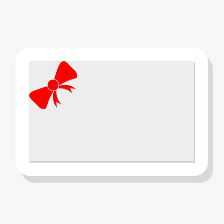 Voucher, Gift certificate, Coupon template. Red bow, ribbon on white background Иллюстрация