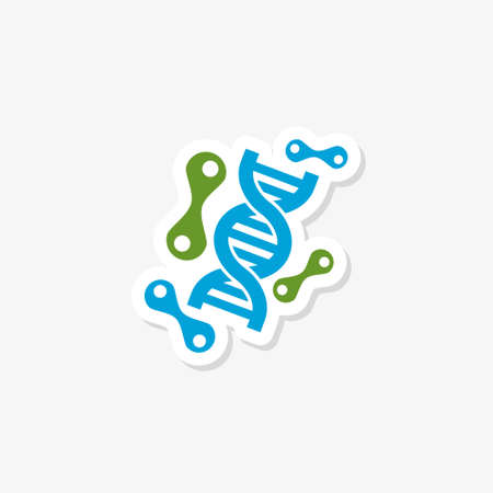 DNA sticker icon isolated on white background Vektorgrafik
