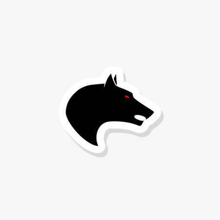 Wolf logo design, image of an wolf on white background