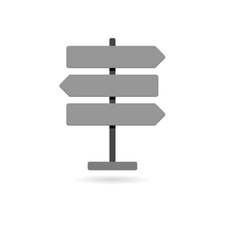 Road traffic sign. Signpost icon isolated. Pointer symbol
