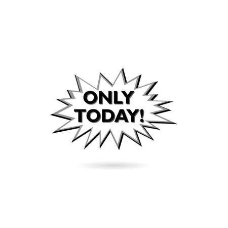 Today only label on white background
