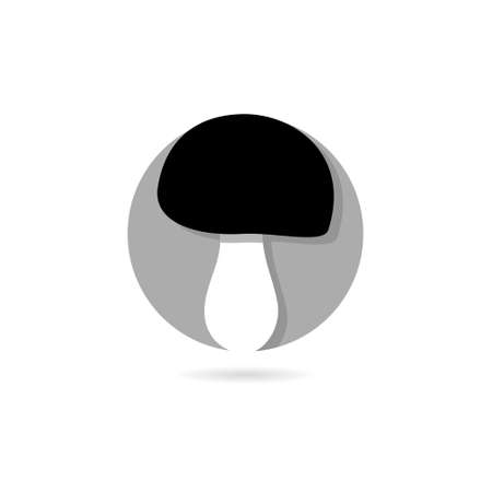 Mushroom icon isolated on white background