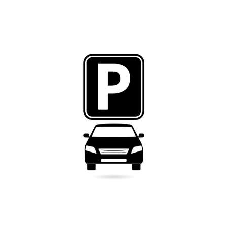 Parking icon isolated on white background