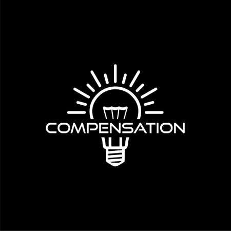 Compensation icon isolated on black background