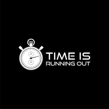 Time is Running Out Clock Deadline Ending Soon isolated on black background
