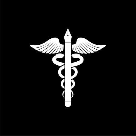 Medical form icon isolated on black background