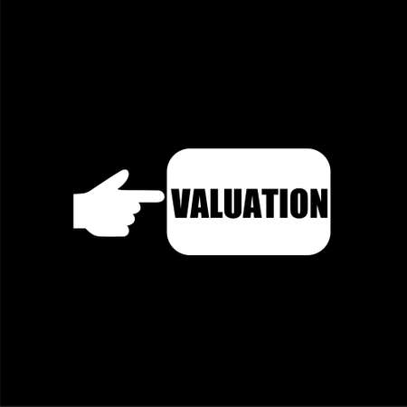 VALUATION sign isolated on black background