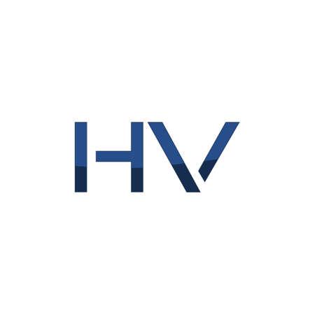 Letter HV Logo Design isolated on white background