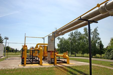 Transportation and measuring of gas and oil through pipes photo