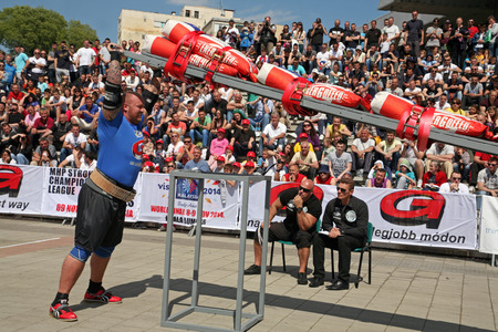 Strongman Champions League stage Serbia,  Krzysztof Radzikowski - Poland, Haftor Julius Bronson - Iceland, Lauire Nami - Estonia, Martin Wildauer - Austria, Dainis Zageris - Latvia, Daniel Wildt - Germany,  Bjorn S. Peterson - Norway, Akos Nagy - Hungary,