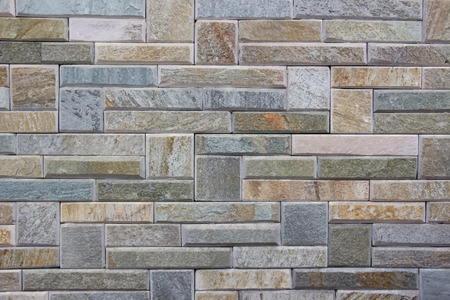 artificial: Background - artificial stone bricks wall Illustration
