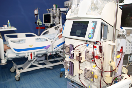 Hemodialysis, hemodiafiltration at ICU (intensive care unit), replacement of renal function, life threatening patient