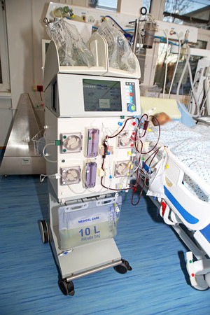 life threatening: Hemodialysis, hemodiafiltration at ICU (intensive care unit), replacement of renal function, life threatening patient
