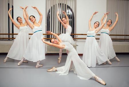recital: Ballerina Dancers Pose for Recital Photo Stock Photo
