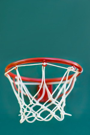 backboard: Basketball basket on childrens playground in the yard of house