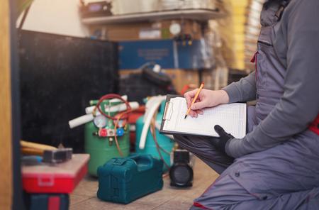 Klimaanlage Master Eingabe Fehlfunktion in einer Werkstatt