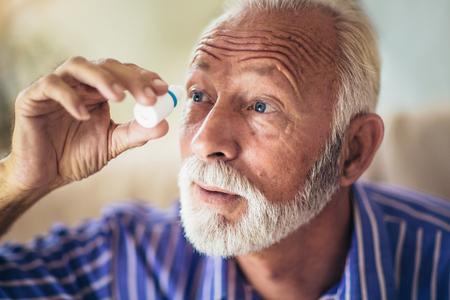 Elderly Person Using Eye Drops Stock fotó - 109740055