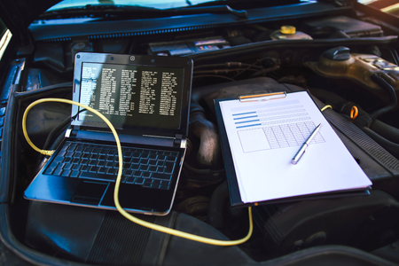 Diagnostic machine tools ready to be used with car