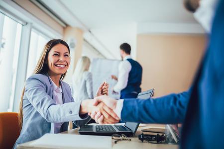 Close-up of business people handshaking Stock fotó