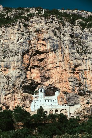 Monastery of Ostrog is a monastery of Serbian Orthodox Church placed against an almost vertical rock of Ostroska Greda, Montenegro, Europe.