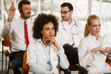 Group of doctors and therapists in a seminar on medical education