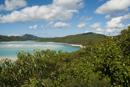 whitsunday: A stunning view of Whitehaven Beach in the Whitsunday Islands Stock Photo