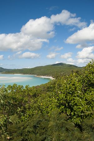 A stunning view of Whitehaven Beach in the Whitsunday Islands photo