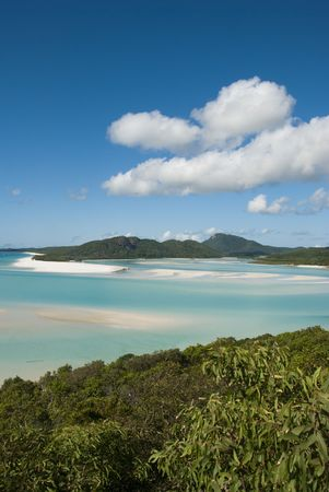 airlie: A stunning view of Whitehaven Beach in the Whitsunday Islands Stock Photo