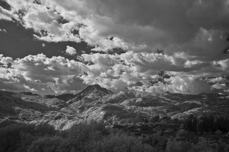 View from Devils Bridge, Garfagnana, Tuscany, Italy photo