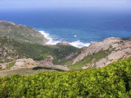 Detail of the coast of Sardinia in Italy photo
