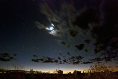 'starry night': Wonderful stassry night at Ayers Rock National Park, Northern Territory, Australia, August 2009