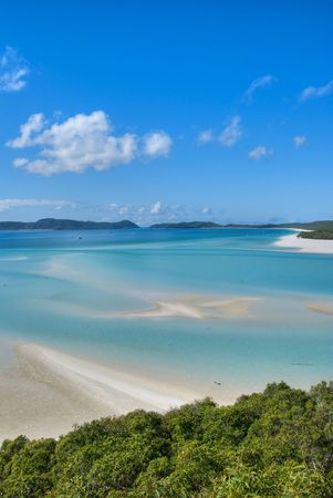 Overview of Whitehaven Beach Area in the Whitsundays Archipelago, East Australia photo