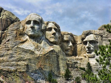 Detail of Mount Rushmore, South Dakota, August 2005