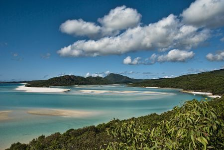 whitsundays: View of the Whitsunday Islands National Park, Queensland Stock Photo