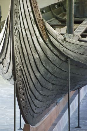 viking ship: Viking Ship exposed in a Oslo Museum, Norway