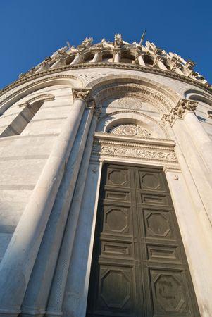 Battistero, Piazza dei Miracoli, Pisa, Italy, December 2009 Stock Photo - 6402004