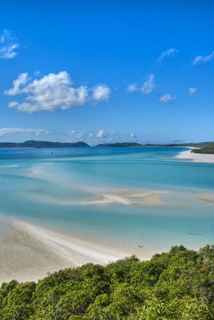 whitsunday: View of the Whitsunday Islands National Park, Queensland Stock Photo