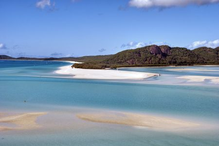 whitehaven: Overview of Whitehaven Beach Area in the Whitsundays Archipelago, East Australia