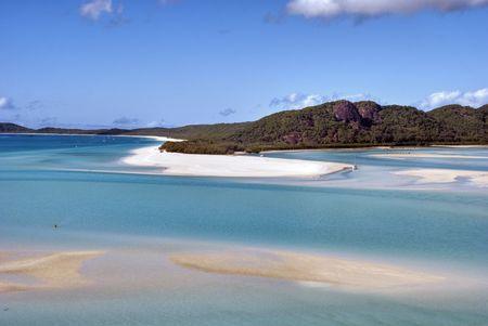 whitehaven beach: Overview of Whitehaven Beach Area in the Whitsundays Archipelago, East Australia