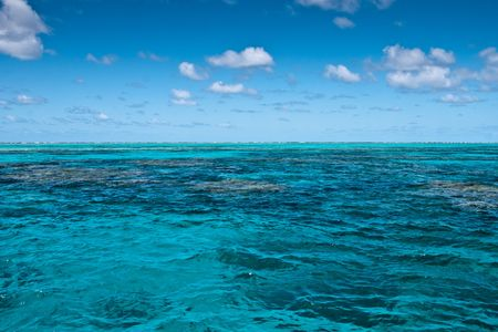 Surface of the Great Barrier Reef near Port Douglas, Australia Stock Photo - 6809239