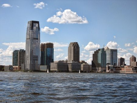 Jersey City viewed from New York City photo