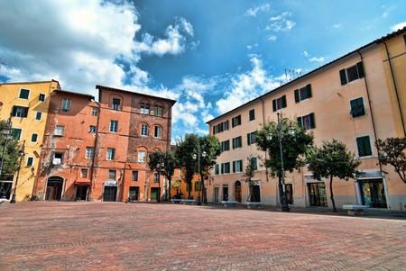 View of Piazza della Pera in Pisa, Italy photo