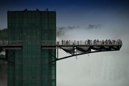 Suspended Bridge over Niagara Falls, American Side photo