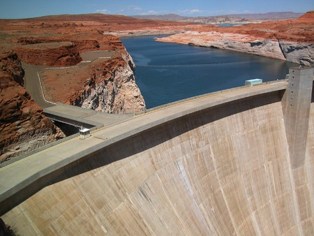 Glen Canyon Dam near Lake Powell, Arizona photo