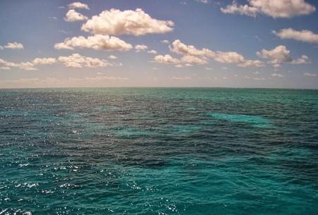 Surface of the Great Barrier Reef near Port Douglas, Australia photo