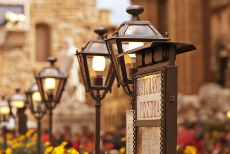 Architectural Detail of Piazza della Signoria in Florence, Italy photo