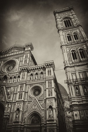 elaborate: Architectural Detail of Piazza del Duomo in Florence, Italy