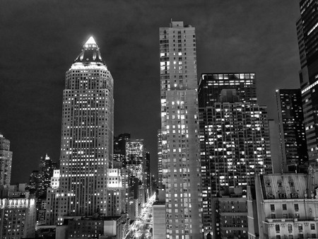 imperium: Nacht uitzicht op New York City from Empire State Building Stockfoto