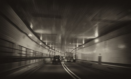 Inside Lincoln Tunnel, New York City photo